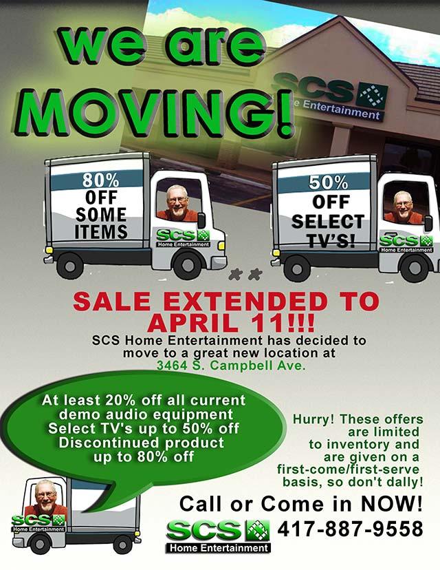 SCS Moving Date Extended until April 11