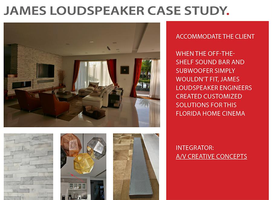 JAMES LOUDSPEAKER CASE STUDY